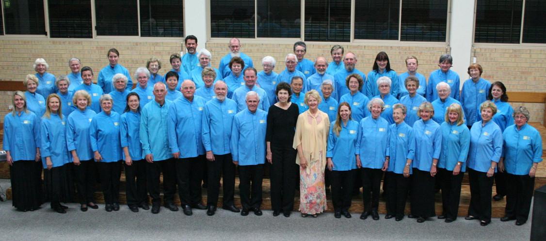Gold Coast City Choir in GCYO centre mid-2009.