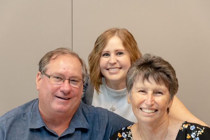 Trevor Love DSA 2019 with Linda and Rachel Love