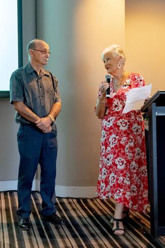 Alliance Patron Coral Kelly with John Foggerty DSA 2019
