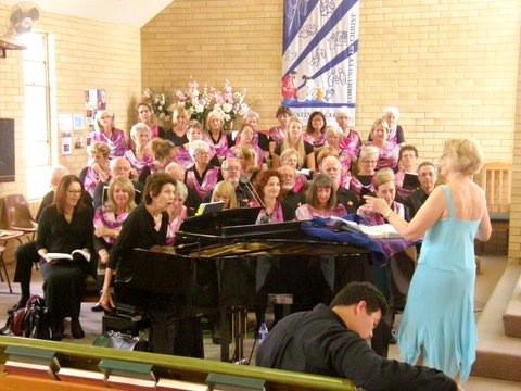GCCC Rehearsing Messiah at Burleigh Uniting Church 2014.