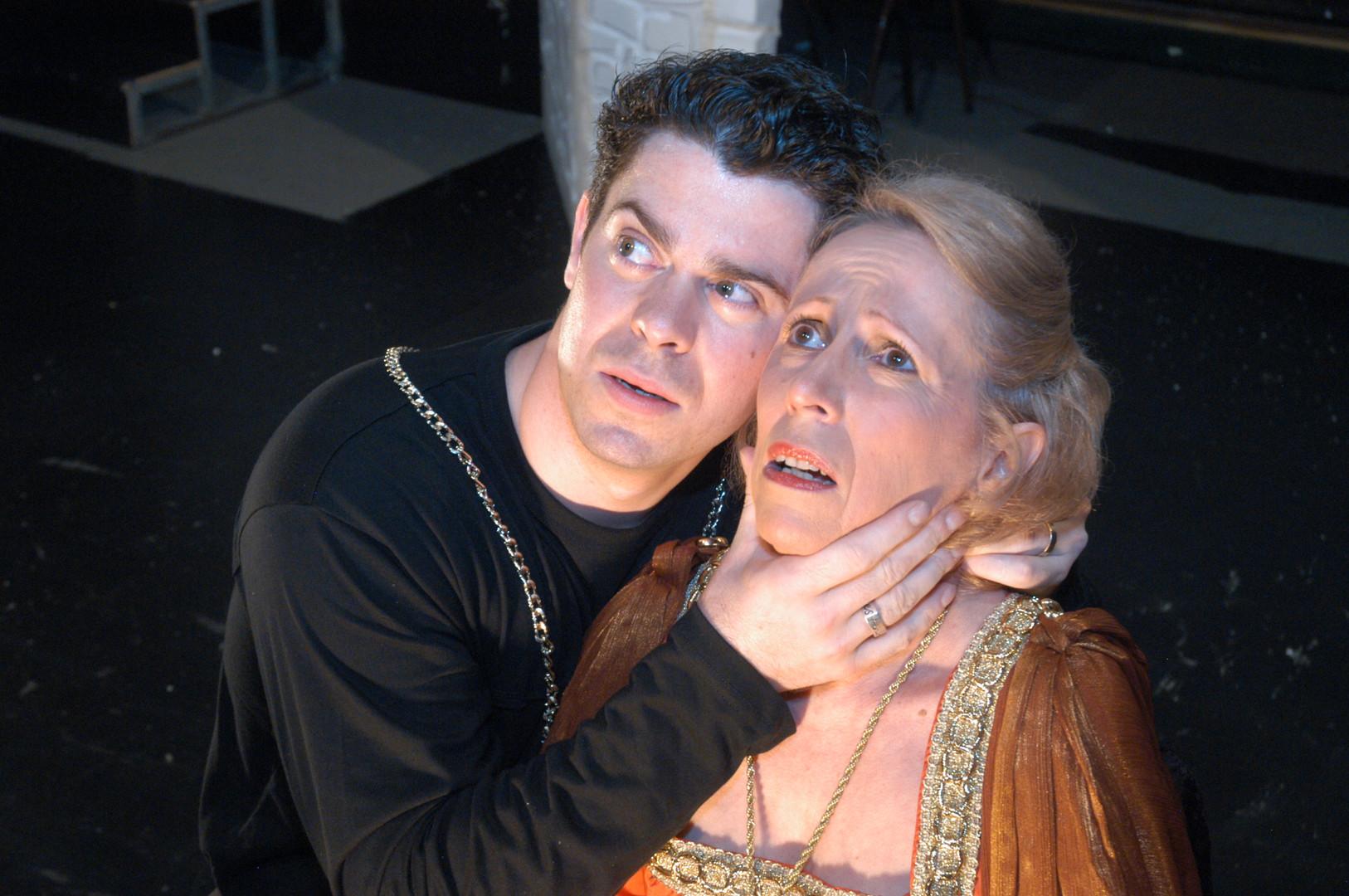 James Anderson and Del Halpin in Hamlet.