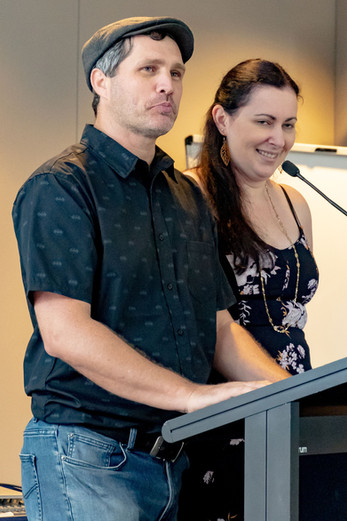 Nathan and Peta - Alliance Executive members launch SHOWS 2020