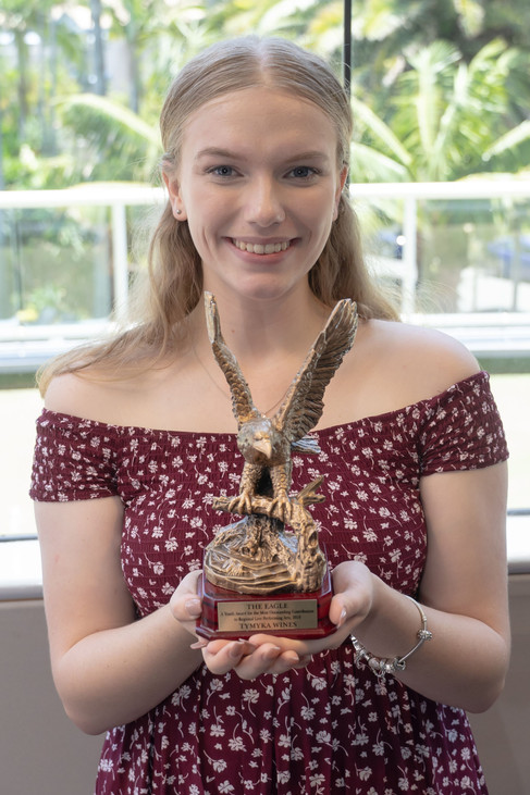 Tymyka Wines - with her Eagle Award