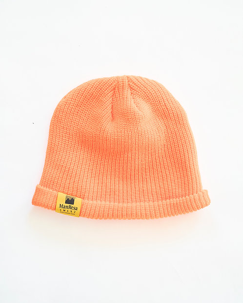 The Slouch Beanie in Safety Orange