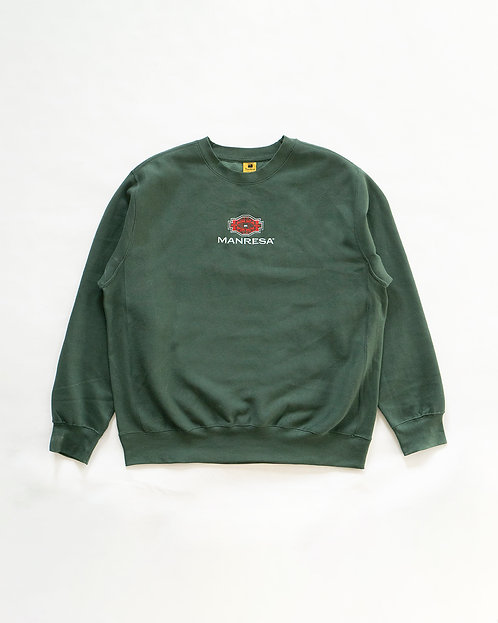 The Kilim Crewneck in Forest