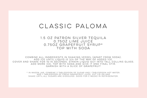 Classic Paloma Recipe