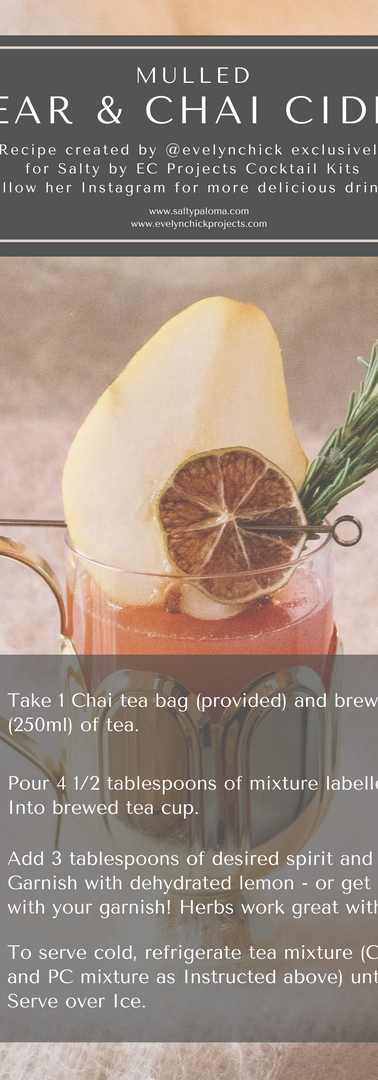 Mulled Pear and Chai Cider