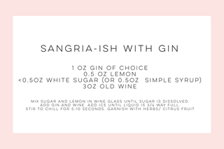 Sangria-Ish WIth Gin