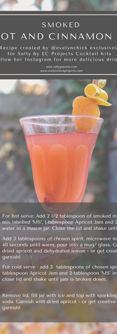 Smoked Apricot and Cinnamon Toddy