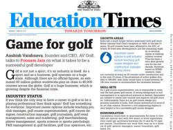 Game For Golf - Education Times - Aashish Vaishnava AV GOLF (June 2013).jpg