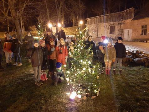 Ziema rotā svētku egli
