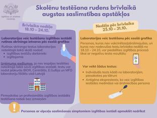 Skolēnu testēšana brīvlaikā (papildināts)