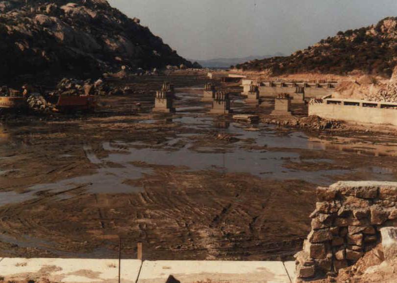 Poltu Quatu, lavori in corso. 1979-1985