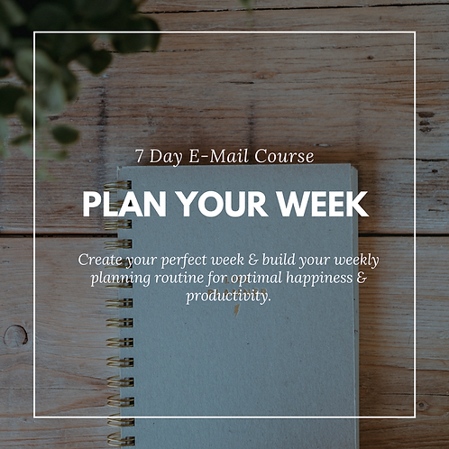 E-Mail Course: Plan your week
