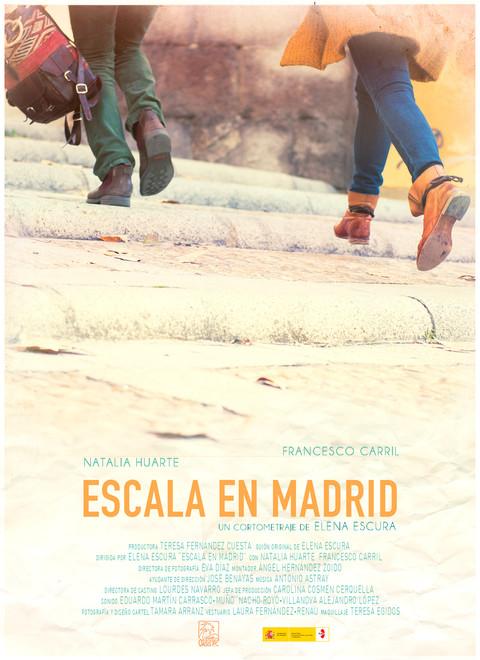 Poster for the shortfilm ESCALA EN MADRID, by Elena Escura (Spain // 2015)
