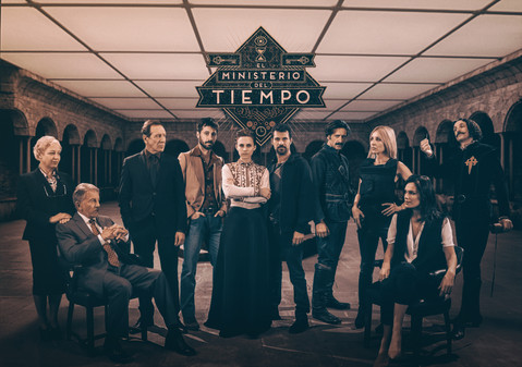 Poster for 2nd season of EL MINISTERIO DEL TIEMPO, by Cliffhanger and Onza Entertainment  (Spain // 2016)