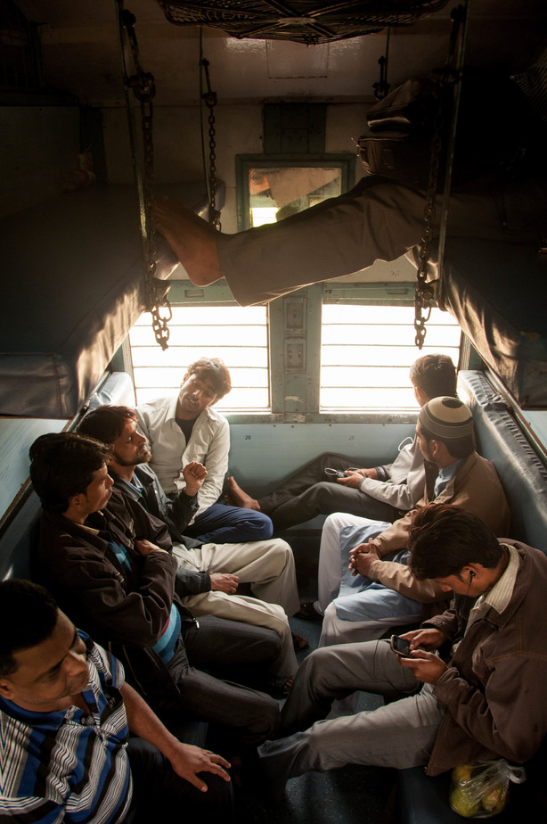 Living in the train // India