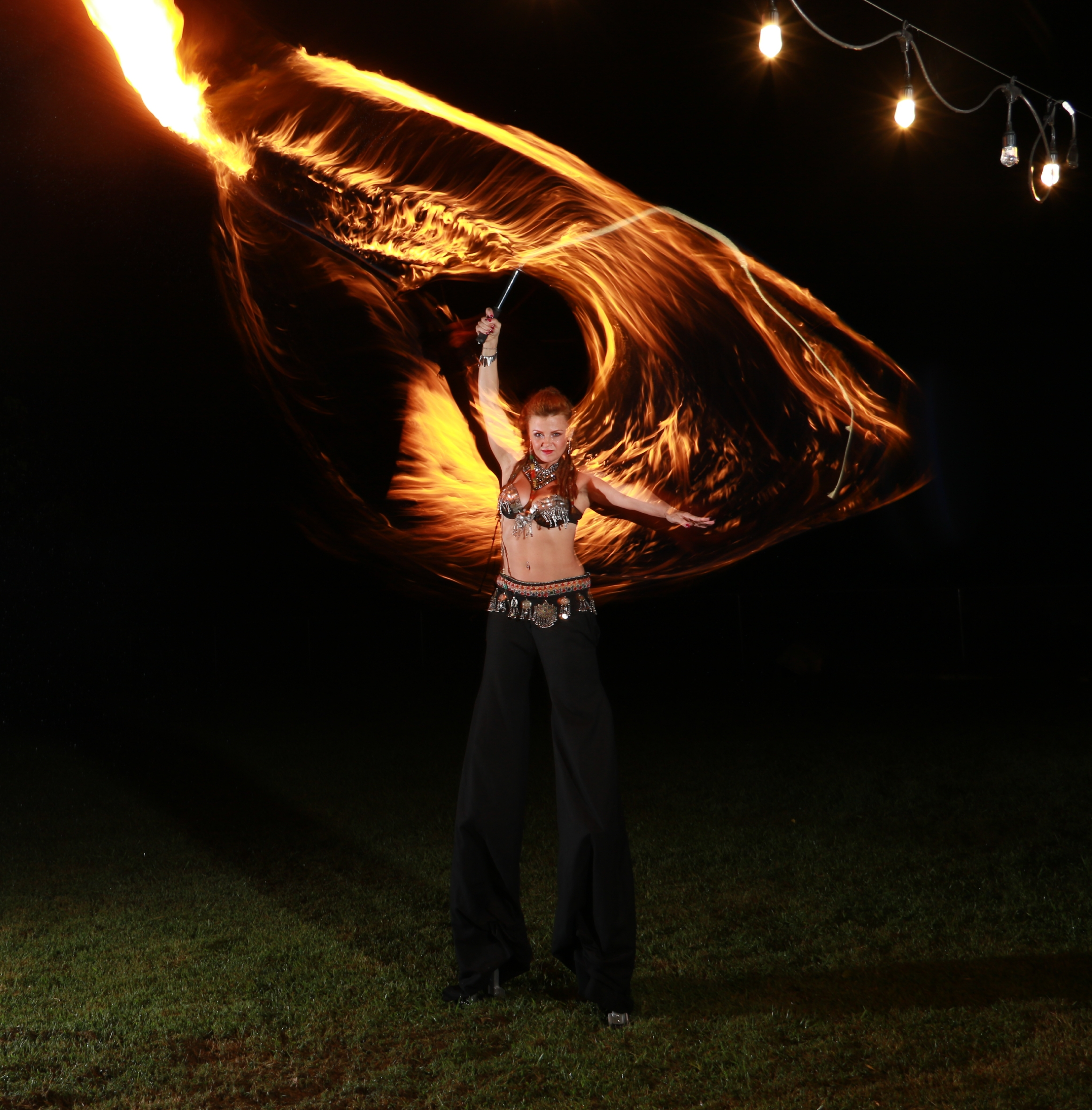 Fire Dancing Stilt Walker