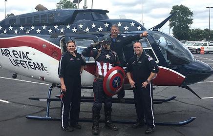 atlanta captain america character party
