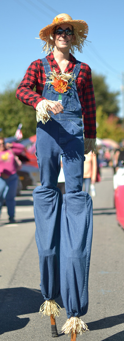atlanta fall festival stilt walker