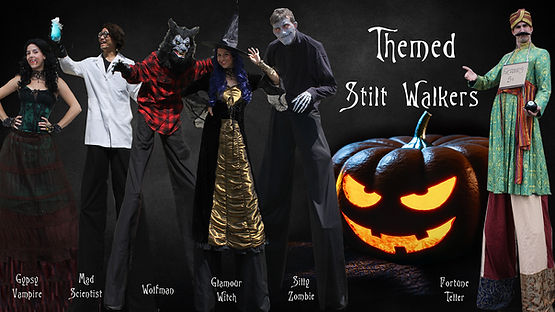 Atlanta Halloween Stilt Walkers