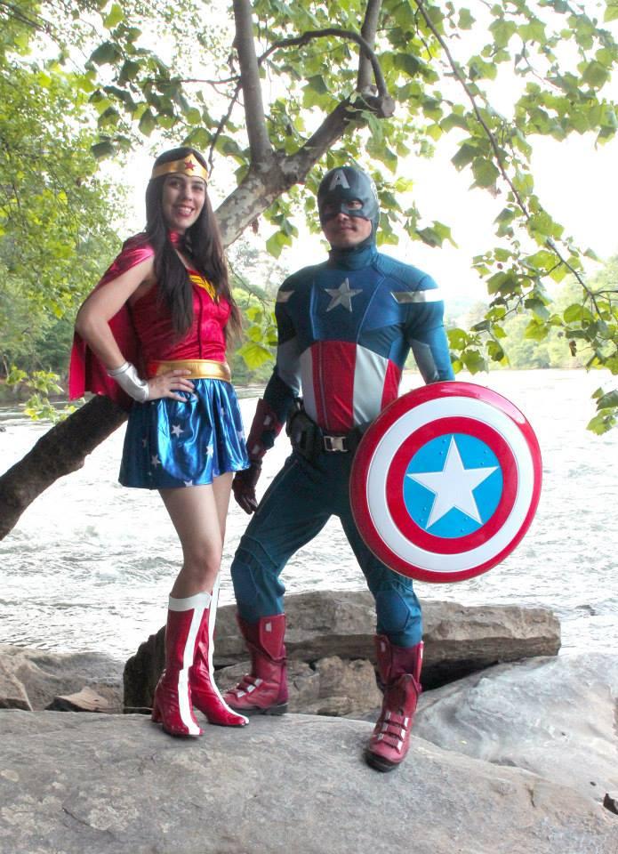 Wonder Woman and Capt America
