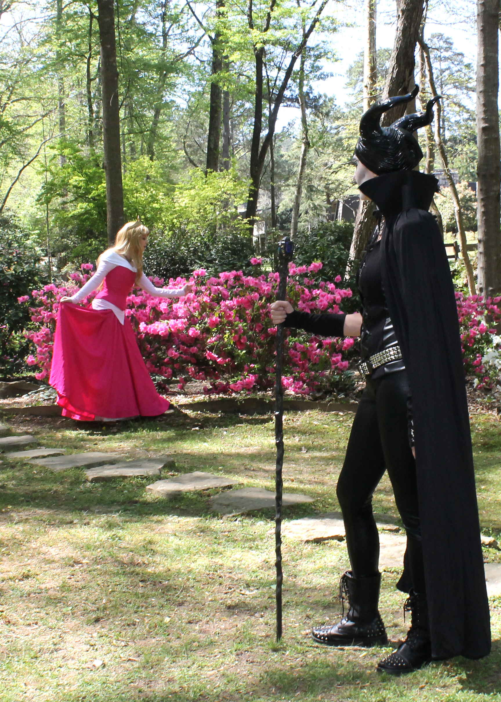 maleficent costumed character