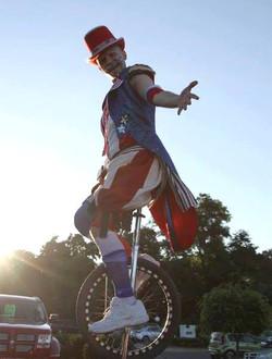 Uncle Sam Unicyclist