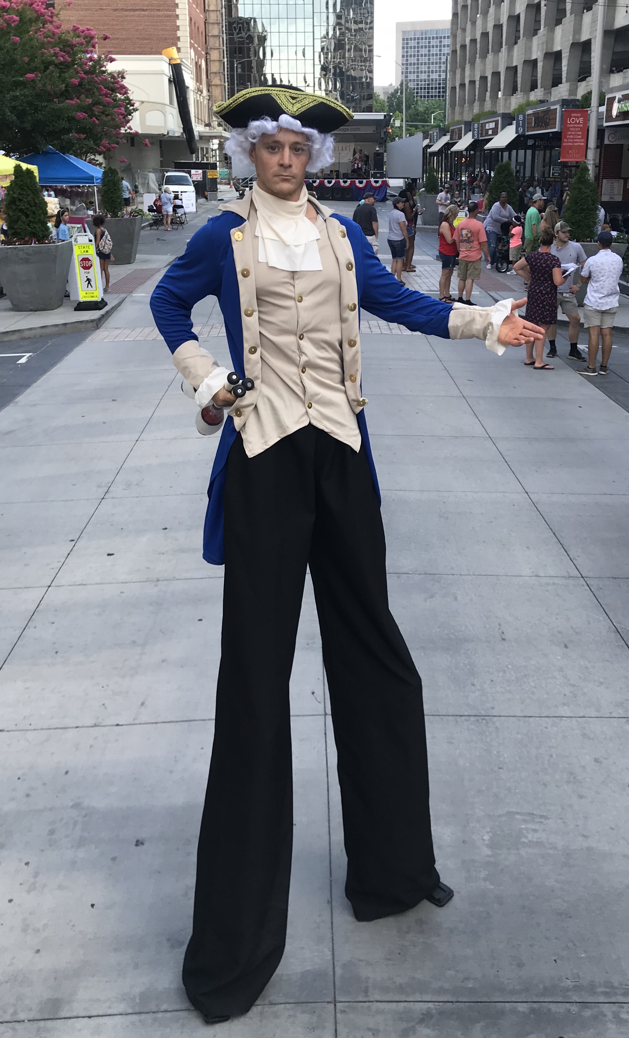 George Washington Stilt Walker