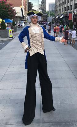 George Washington Stilt Walker