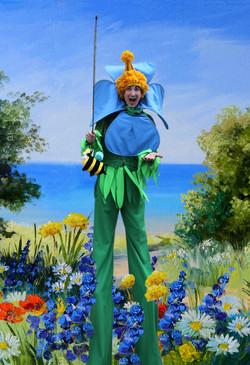 Giant Flower Stilt Walker Atlanta