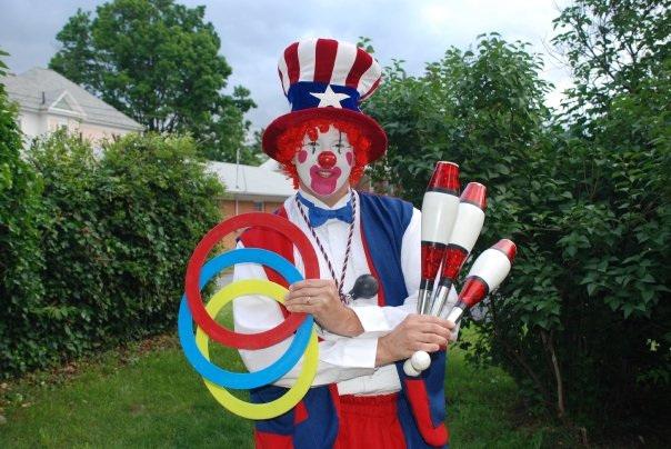 patriotic clown juggler atlanta