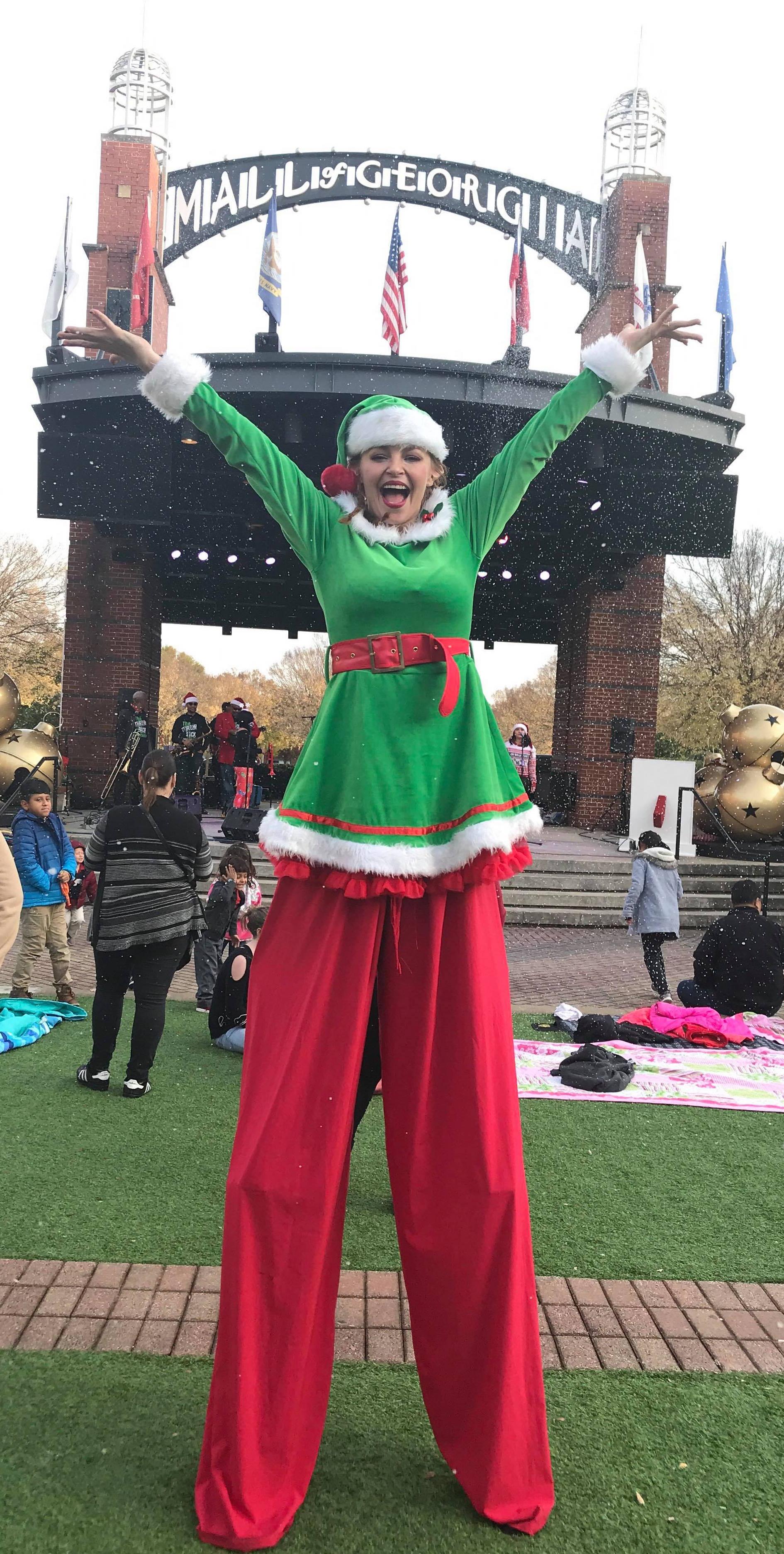 Christmas Stilt Walker Atlanta