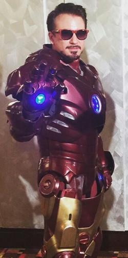 Tony Stark and Iron Man Impersonator