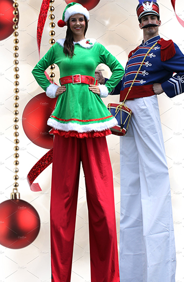 christmas stilt walkers atlanta