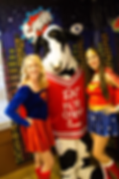 Atlanta Supergirl and Wonderwoman Party Characters