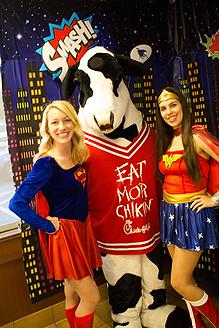 Atlanta Supergirl and Wonderwoman Party Characters