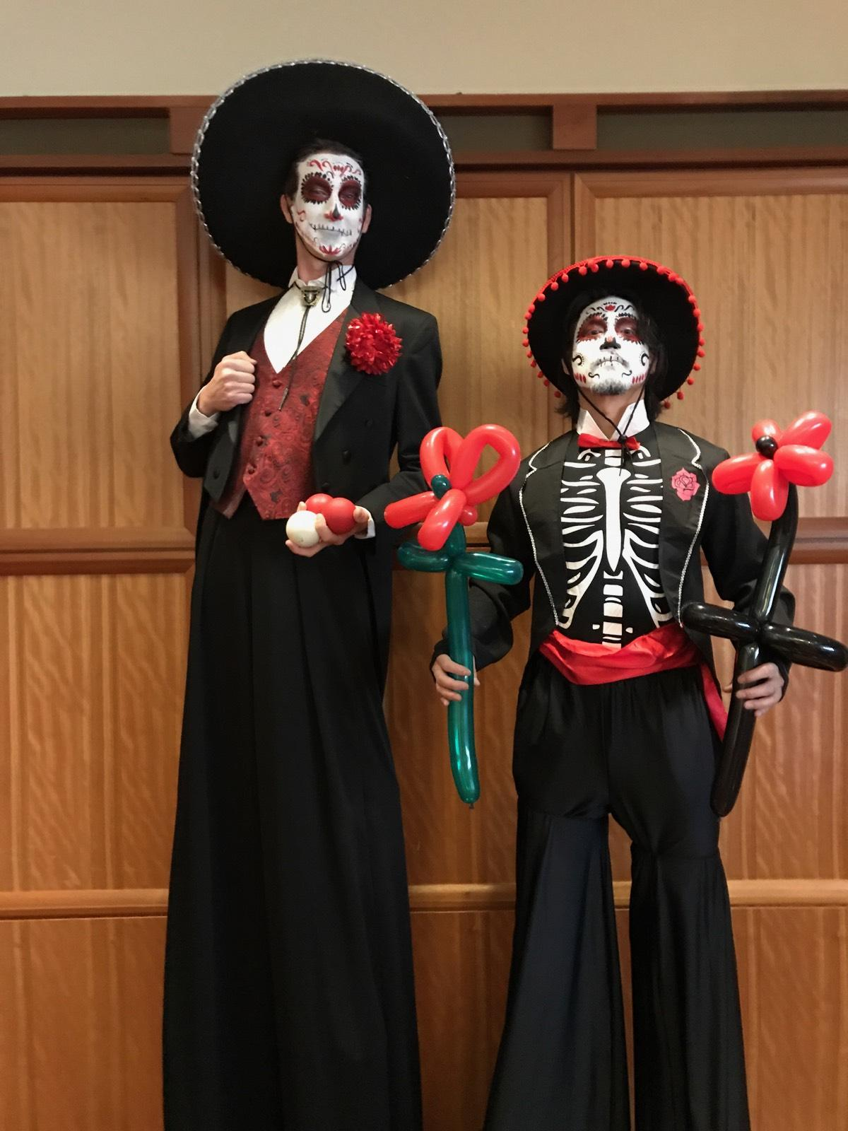 Day of the Dead Stilt Walker