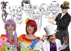 Magicians, Caricatures & Clowns