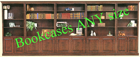 Bookcasesplus Natural Wood Customizable Furniture