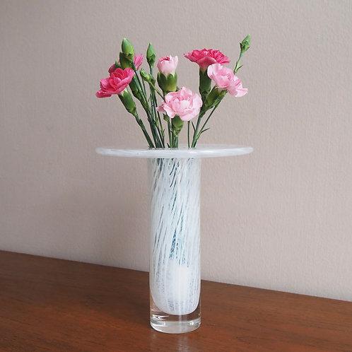 Hvit Vase Kunstglass