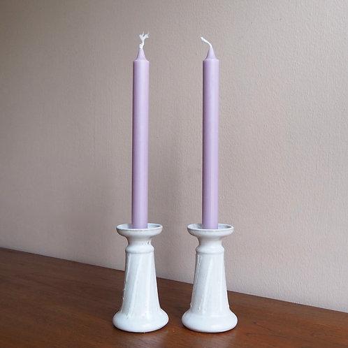 Hvite Lysestaker Keramikk