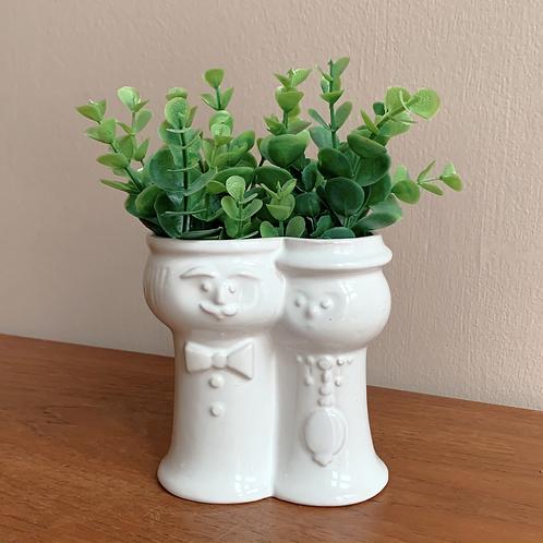 Vase med fjes