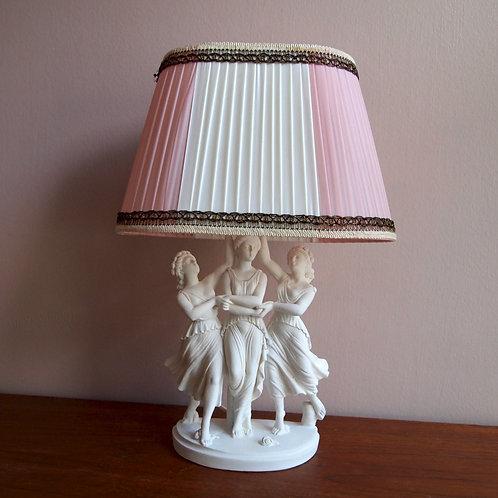 Vintage Lampe - Tofarget skjerm