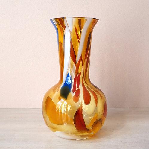 Flerfarget Vase Kunstglass
