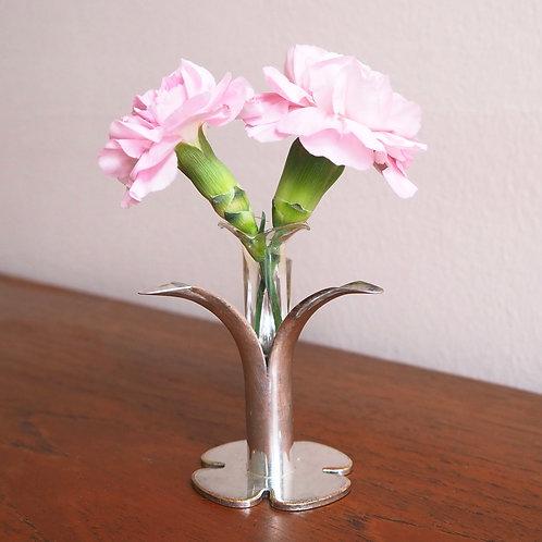 Lysestake / Vase Sølvplett