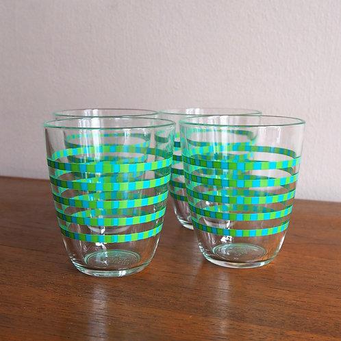 Fargerike Drikkeglass