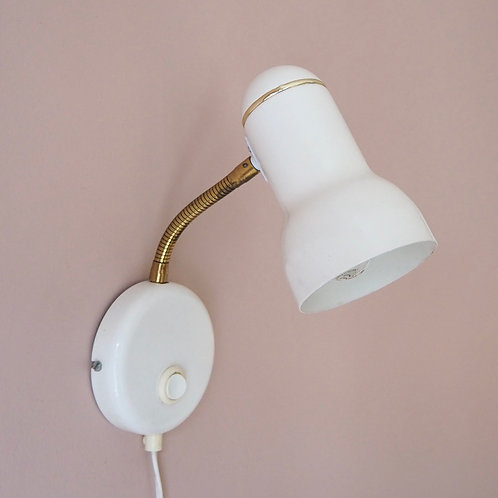 Hvite Vegglamper 2 stk