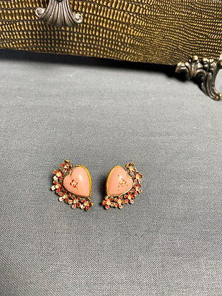 Vintage Hearts Screw In Faux Earrings