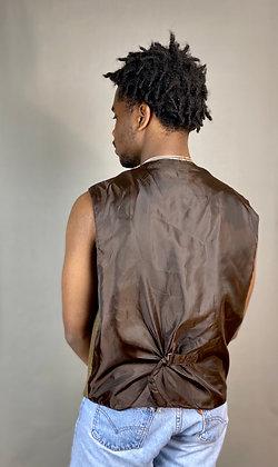 Members Only Brown Suede Vest